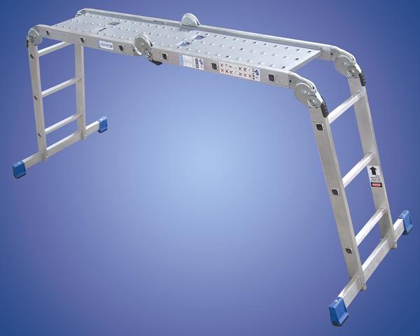 Step Ladder Gs Manufacturers Mail: 4 X 3 Rung Multi-Purpose Folding Ladder C/w Platform